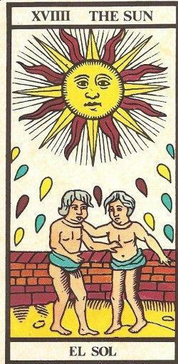 Arcano XVIIII - O Sol Carta Tarot para 08-10-2014 Hoje o dia promete mais energia e algumas concretizações. Aproveite o dia para descontrair e sacudir a pr