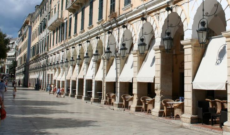 Liston, a row of cafes in Corfu