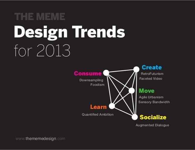 2013 Design Trends  by MEME Design via slideshare