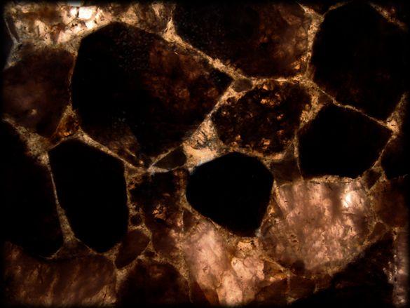 Jaccana | Dark Smokey Quartz Stone Backlit | Semiprecious Stone Tile & Slab