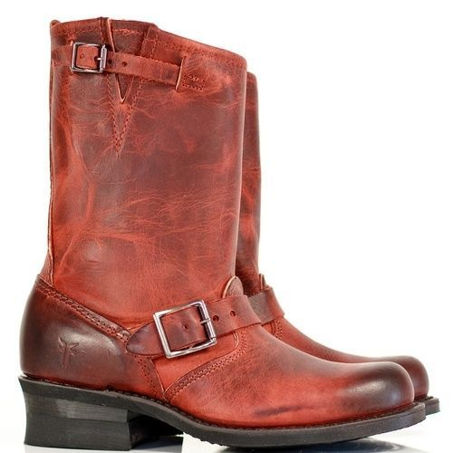 FRYE ENGINEER burnt red size 7M 38 24cm like new! rrl red wing double rl
