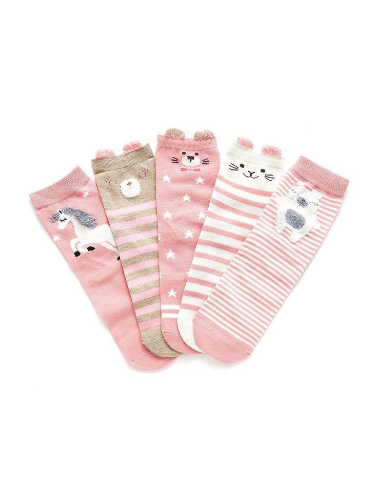 Socks & Tights Animal design. Designed in Pink.