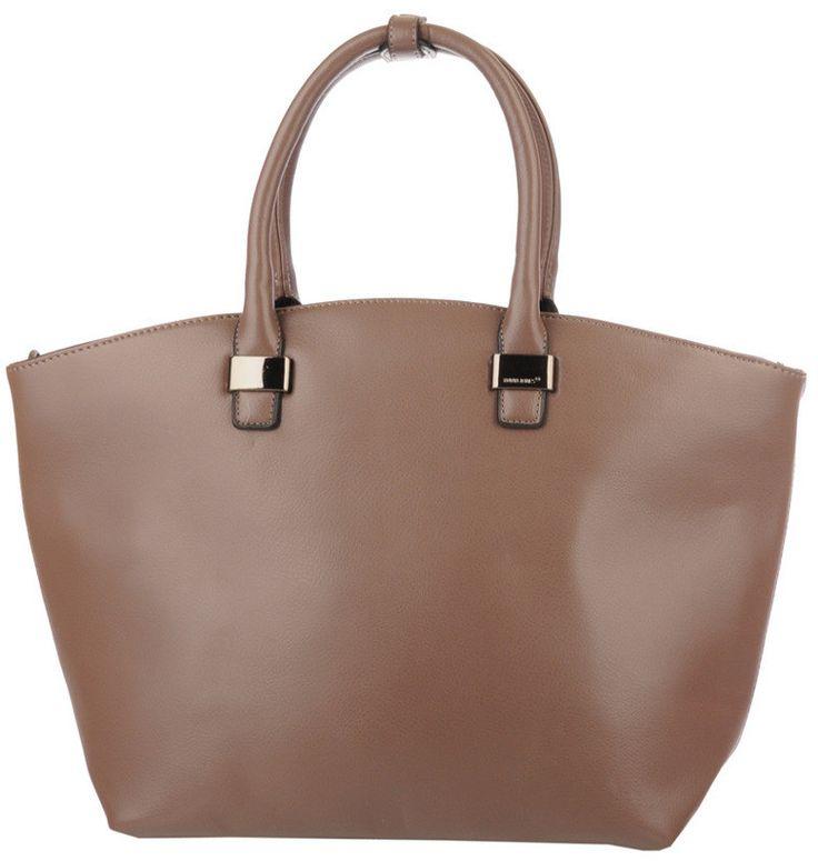 David Jones - kobieca shopper bag, beżowo/szara | Beżowe Torebki