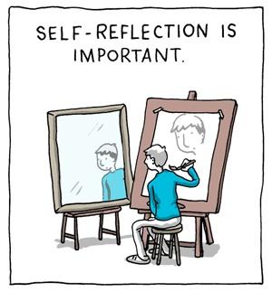 Self reflection stock photos