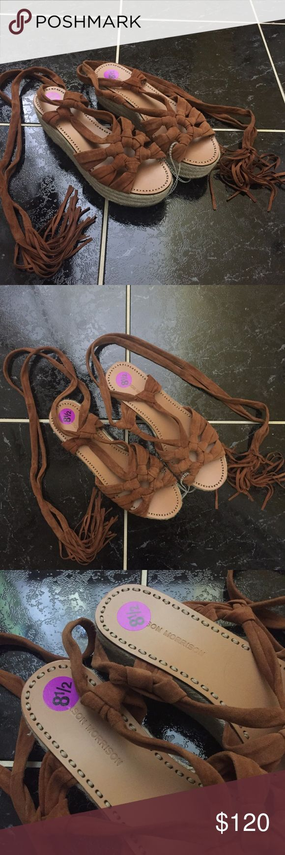 Sigerson Morrison Cosie Lace Up Espadrilles 8 1/2 Stay on trend with these NWT lace up espadrilles. Never worn. Sigerson Morrison Shoes Espadrilles