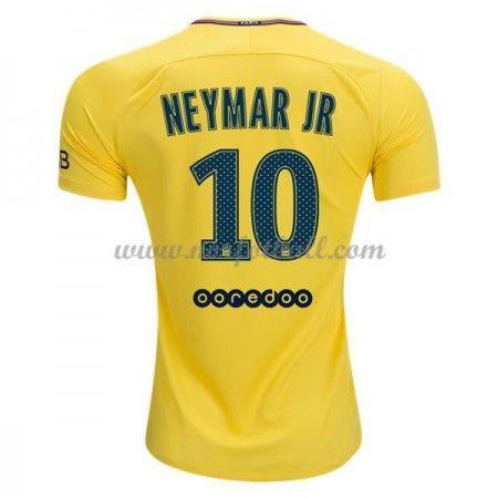 Billige Fotballdrakter Paris Saint Germain Psg 2017-18 Neymar Jr 10 Bortedrakt Kortermet