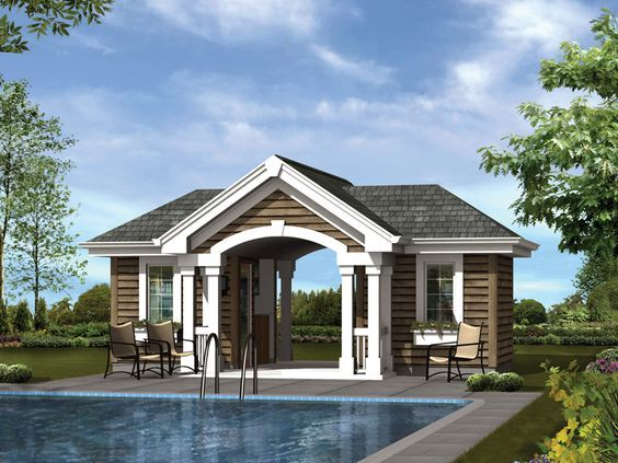 Best 20 pool house plans ideas on pinterest small guest for Pool pavilion plans