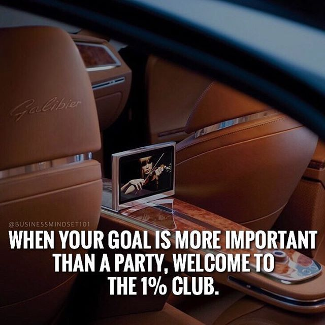 Great post from @businessmindset101 , if you want to be in the one percent you have to do what others are not welling to do! Leave the party life behind and use that time to work. The clock stops for no one! | #motivation #motivational #motivationalquotes #motivations #success #workinprogress #workhard #noparty #timeismoney #1 #motivation101 #business #businessminded #businessmind #businessman  #hustle #hustlemindset