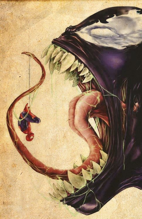 Spider-man and Venom fan art. #comics: