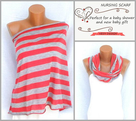 Organic Nursing Cover  Nursing Scarf  Breastfeeding by VesyDesign, $17.99
