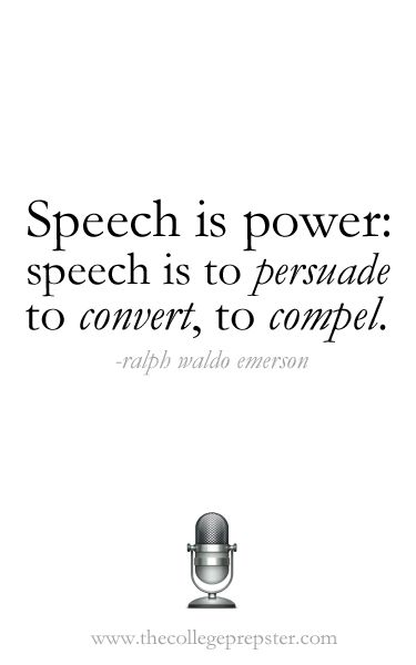 College Speech class. First formal speech this Tuesday . Can you please give me some tips?