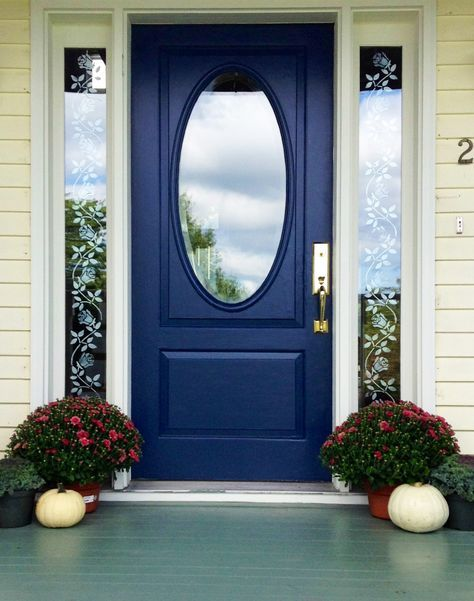 Blue Front Door | Front Door Paint in Serene color by Modern Masters | Project by Diana Heath