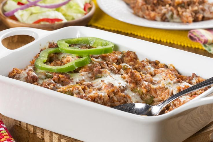 "Stuffed Peppers Casserole | MrFood.com. Actually called ""Unstuffed Stuffed Peppers Casserole"" by Mr. Food Test Kitchen itself. We will be using other colored peppers as Green ones do not agree with our stomachs. But thank you tor the inspiration!"