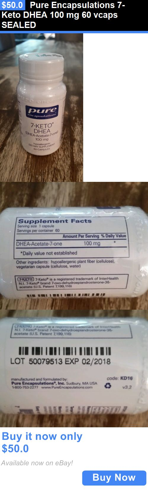 Other Natural Remedies: Pure Encapsulations 7-Keto Dhea 100 Mg 60 Vcaps Sealed BUY IT NOW ONLY: $50.0