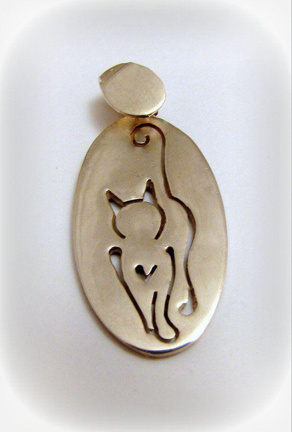 Silver Cat 2 pendant