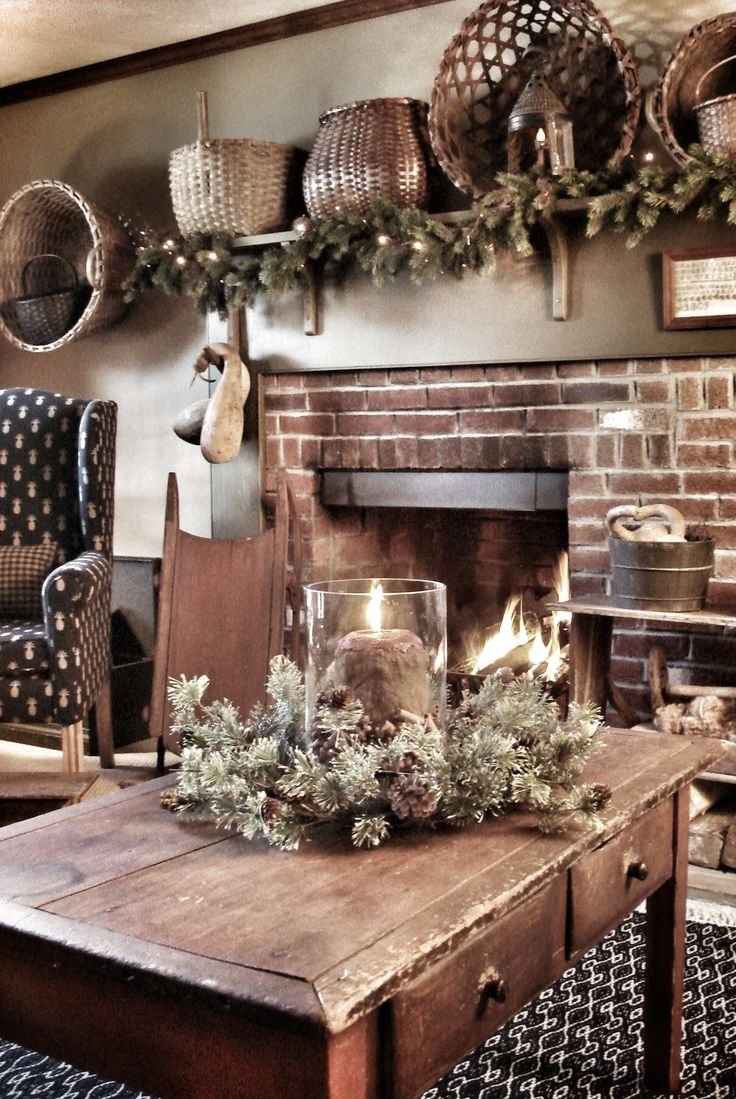 Primitive country decor living room - Country Primitive