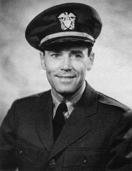 """Henry Fonda (1905-1982) Lt. jg U.S. Navy 1943-45 WW II. Fonda was already a movie star when he enlisted saying """"I don't want to be in a fake war in a studio."""" Fonda served as a Quartermaster 3rd Class on the destroyer USS Satterlee. He was later commissioned as a Lieutenant jg in Air Combat Intelligence in the Pacific and was awarded the Bronze Star. He was in 106 films and won an Oscar for On Golden Pond."""