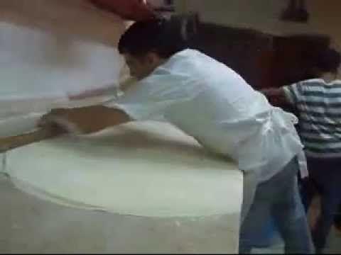 making phyllo dough for Imtubak