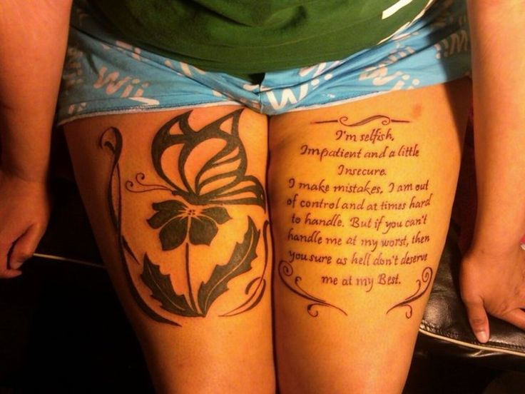 Quote And Tribal Butterfly Tattoo Pictures at Checkoutmyink.com