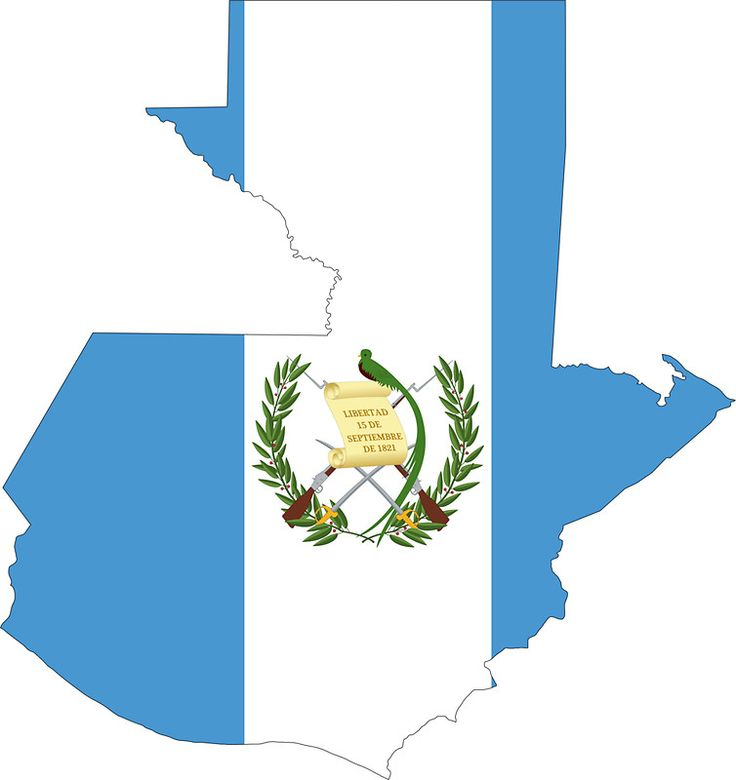 Guatemala Flag Map