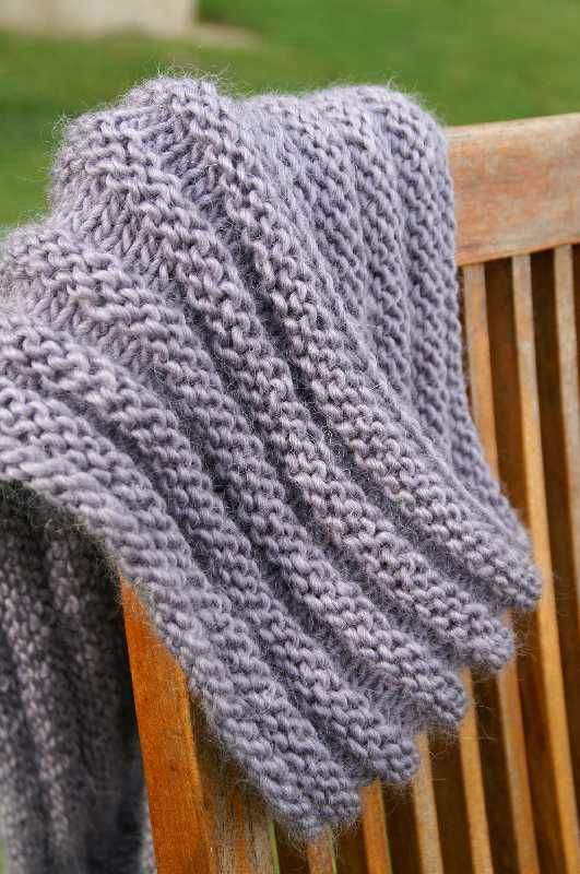 Soft accordion cowl - 6.5 mm needles, cast on 152 stitches, knit 5 rows, purl...