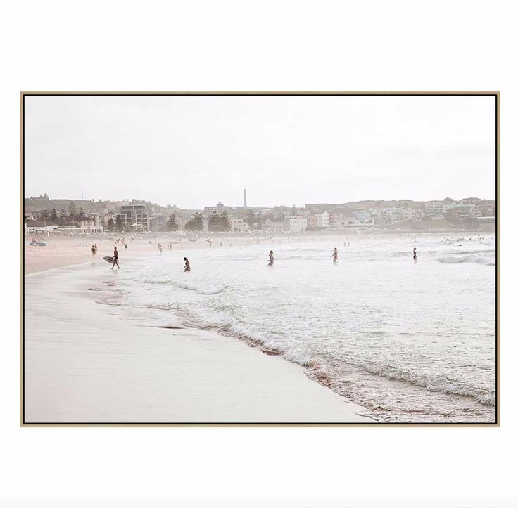 High Tide Beach | Canvas or Framed Print | Ilana Sallick | The Block Shop