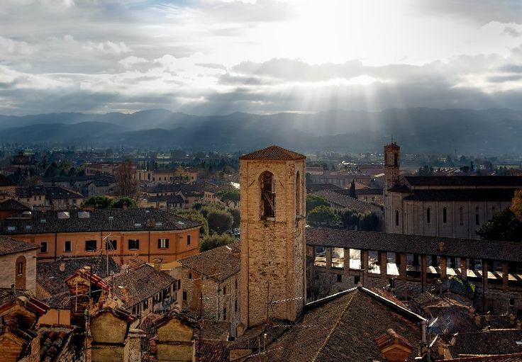 The medieval town of Gubbio