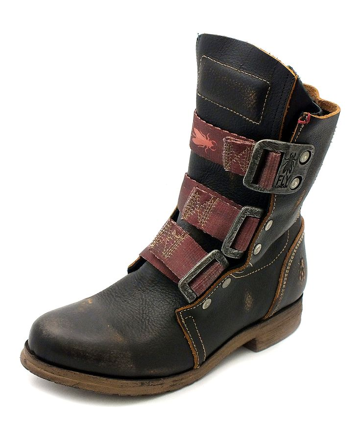 Black Kraft Leather Stif Boot | Daily deals for moms, babies and kids