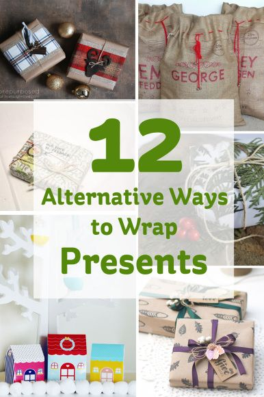 12 Alternative Ways to Wrap Presents #christmas #wrapping