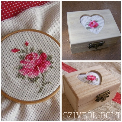 cross-stitched roses