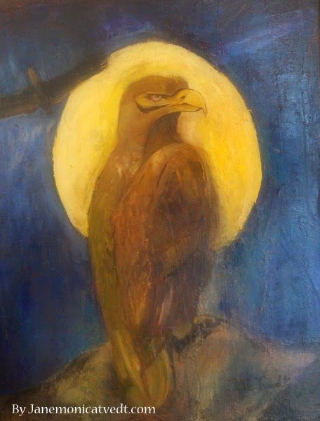 Jane Monica Tvedt - Empire of heart: Fly Like the Eagle - Nature of Abstract Art