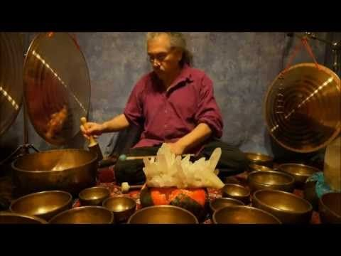 Crystal Chakra Meditation with Antique Tibetan Singing Bowls This meditation features the power of the Crystals and the sounds of the Himalayan Singing Bowls in a 2 hour meditation.