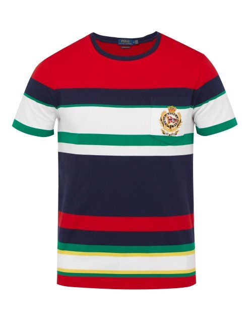 Crest Polo Ralph Embroidered Striped Lauren eWxBordC