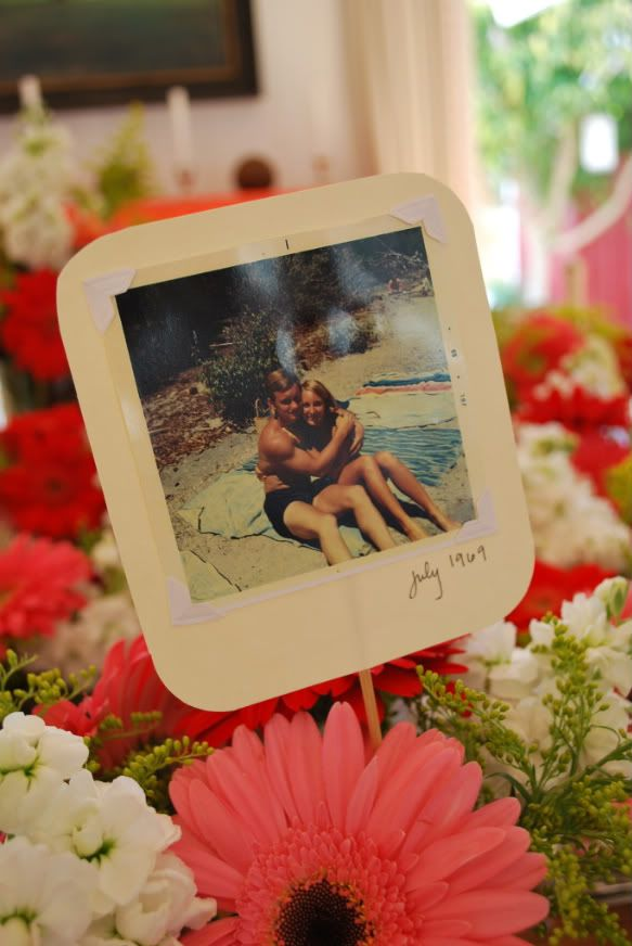 Table Decor At My Mother And Father In Laws 40th Wedding Anniversary F Amp F Parties Pinterest