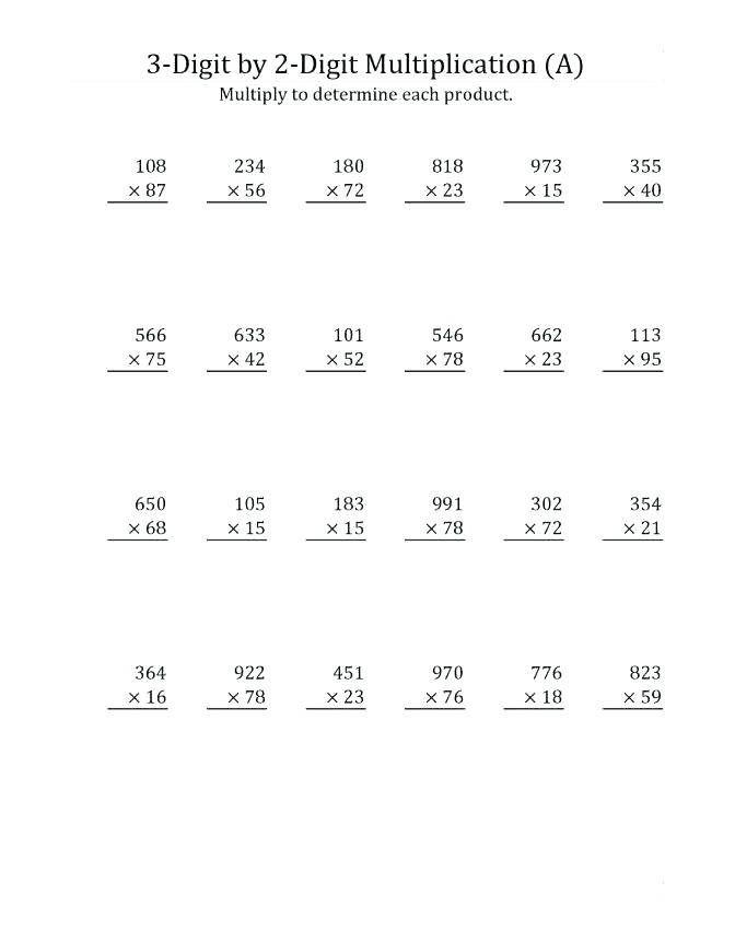 4th Grade Multiplication Worksheets Multiplication Worksheets