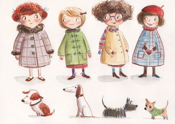 Best friends Ania Simeone's illustration