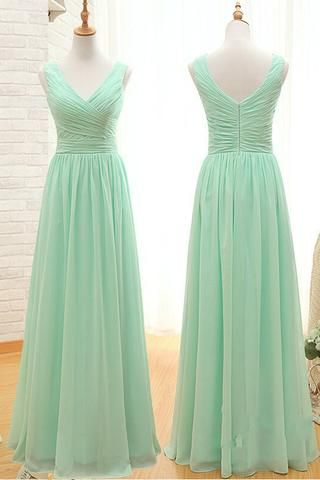 A Line Off The Shoulder Mint Long Bridesmaid Dresses Prom Dress Gown Ld724