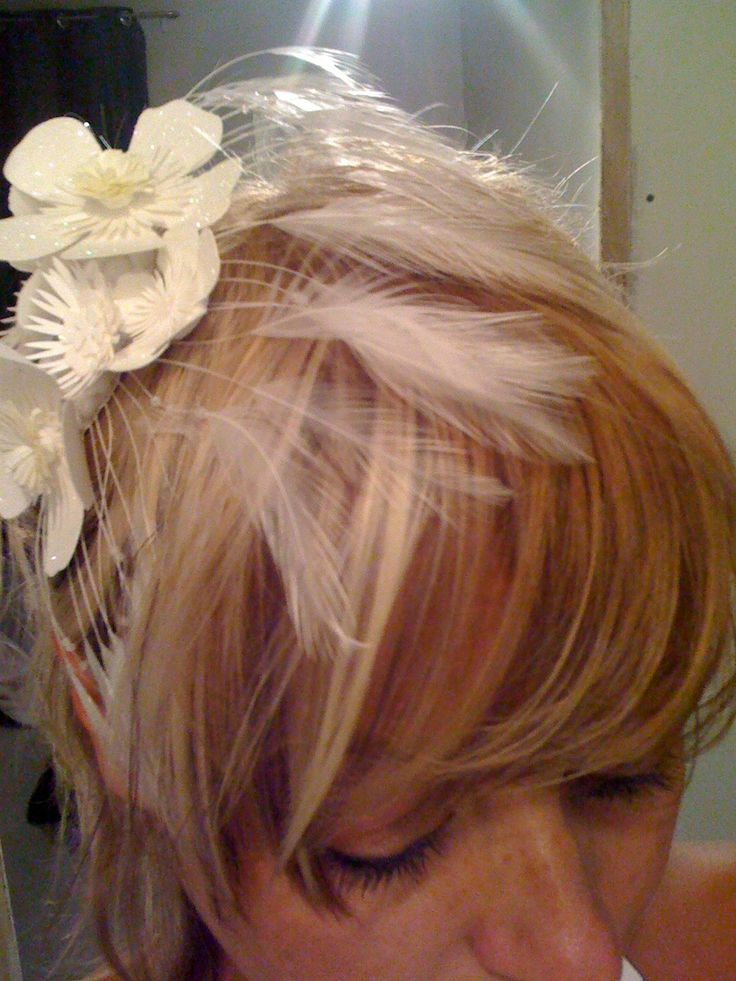 "Made this little hair clip for ""Dinner Le Blanc"" Toronto"