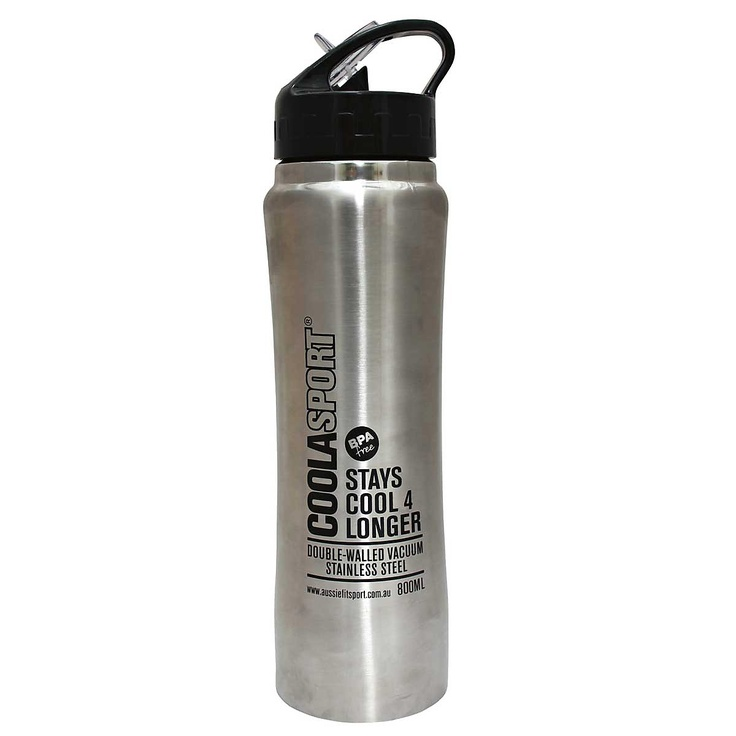 Aussie Fit Coolasport 800ml Water Bottle Aluminium