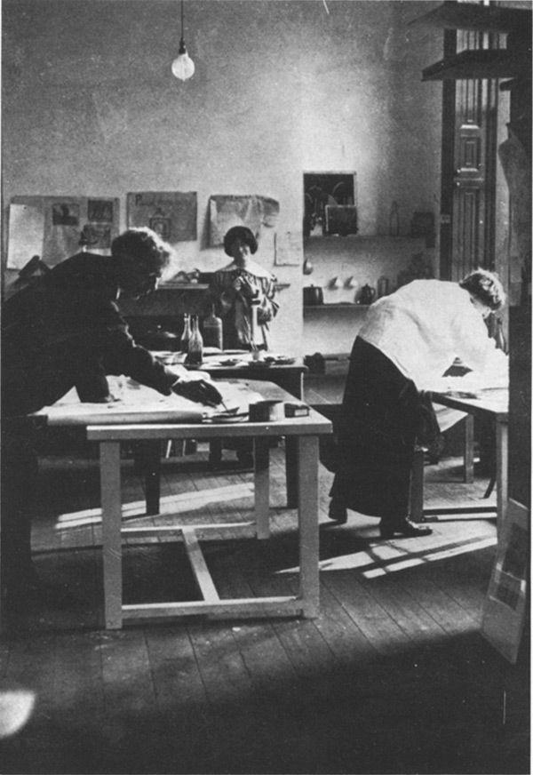 Roger Fry in the Omega Workshops, c. 1913.