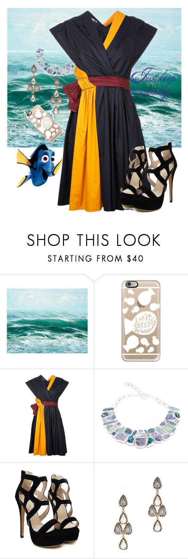 """""""Dory (Formal)"""" by vintage-wine ❤ liked on Polyvore featuring Casetify, Paule Ka, Poppy Jewellery and Erickson Beamon"""