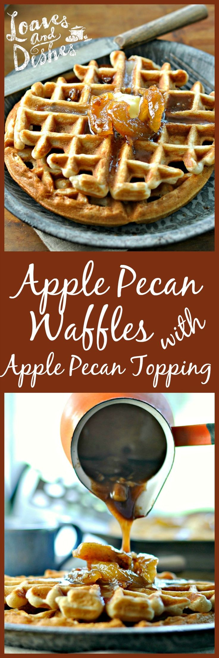 Apple Pecan Waffles with Apple Pecan Topping | Recipe ...