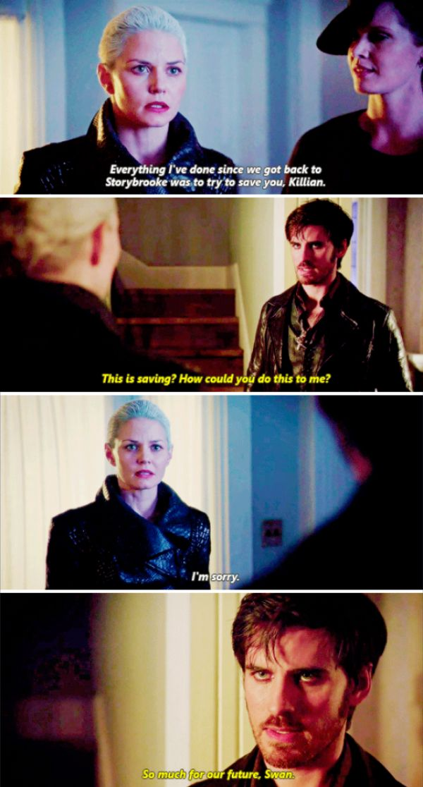 """This is saving? How could you do this to me?"" - Dark Hook, Dark Swan and Zelena #OnceUponATime"