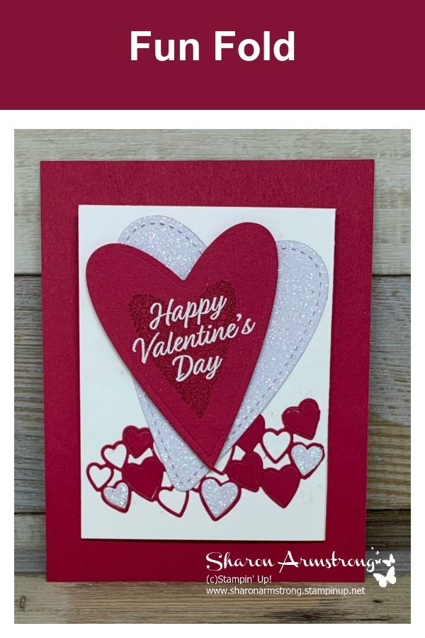 Exciting And Easy Fun Fold Valentine Card Valentine Love Cards