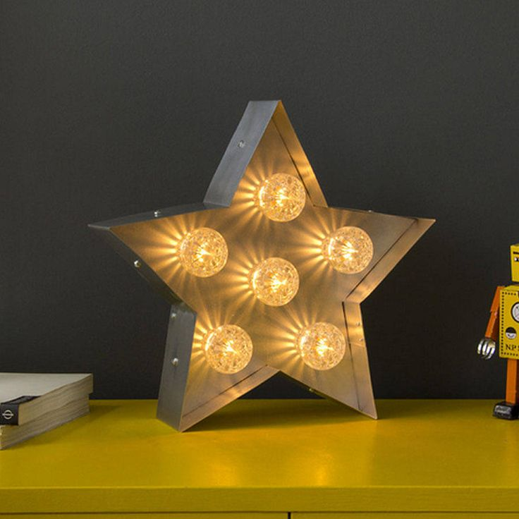 light up fairground star by goodwin + goodwin | notonthehighstreet.com