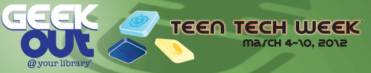I am teaching a webcast to kickoff YALSA's Teen Tech Week today about Gamification. Game on!