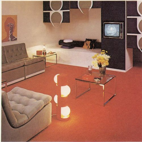 I would rock this look in my home today. 70's Mod!
