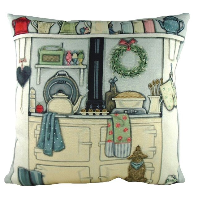North Face of the Aga Design Filled Cushion by Sally Swannell for Evans Lichfield