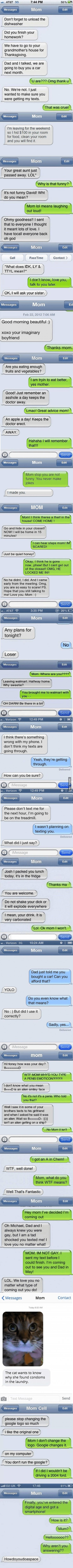 Mom sometime can be funny