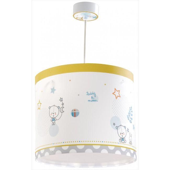 Παιδικό φωτιστικό οροφής teddy & moon με κίτ ανάρτησης & διαχυτή φωτός